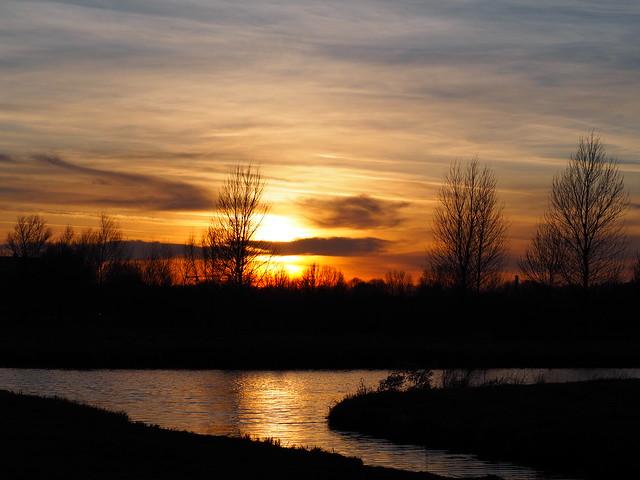 Beautiful Sunset Utrecht on 16-1-2020