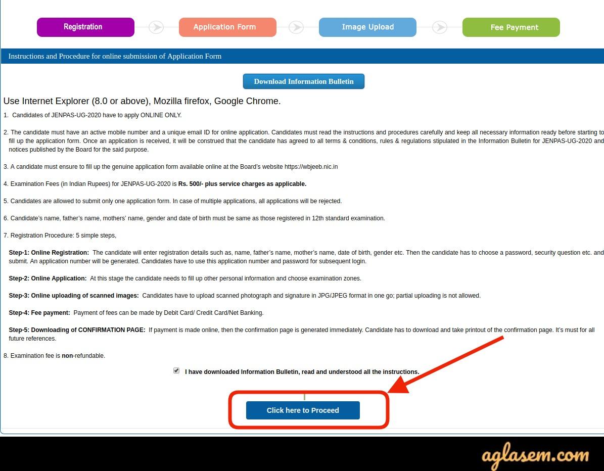 WBJEE JENPAUH / JENPAS UG 2020 Application Form (Over) - Do Correction in Details