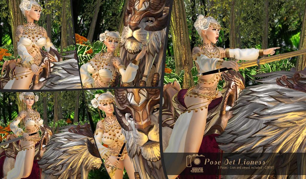 Joplino Pose Set Lioness [Exclusive FlashShot Event]
