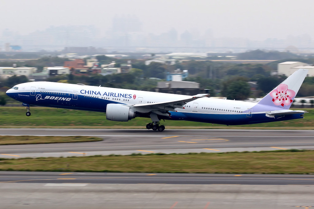 China Airlines | Boeing 777-300ER | B-18007 | Boeing livery | Taipei Taoyuan