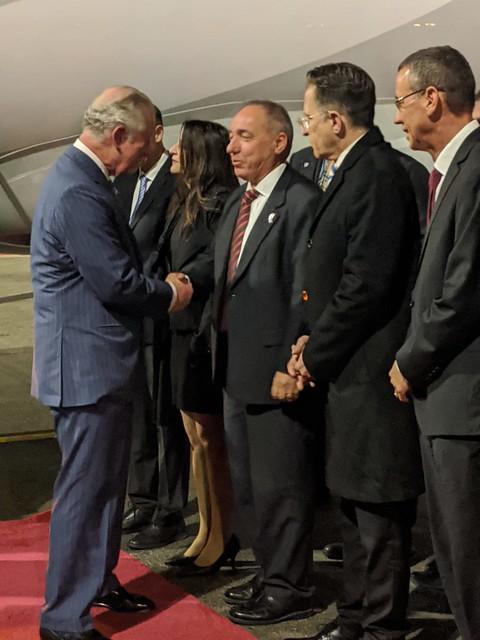 HRH Charles, Prince of Wales arrives in Israel