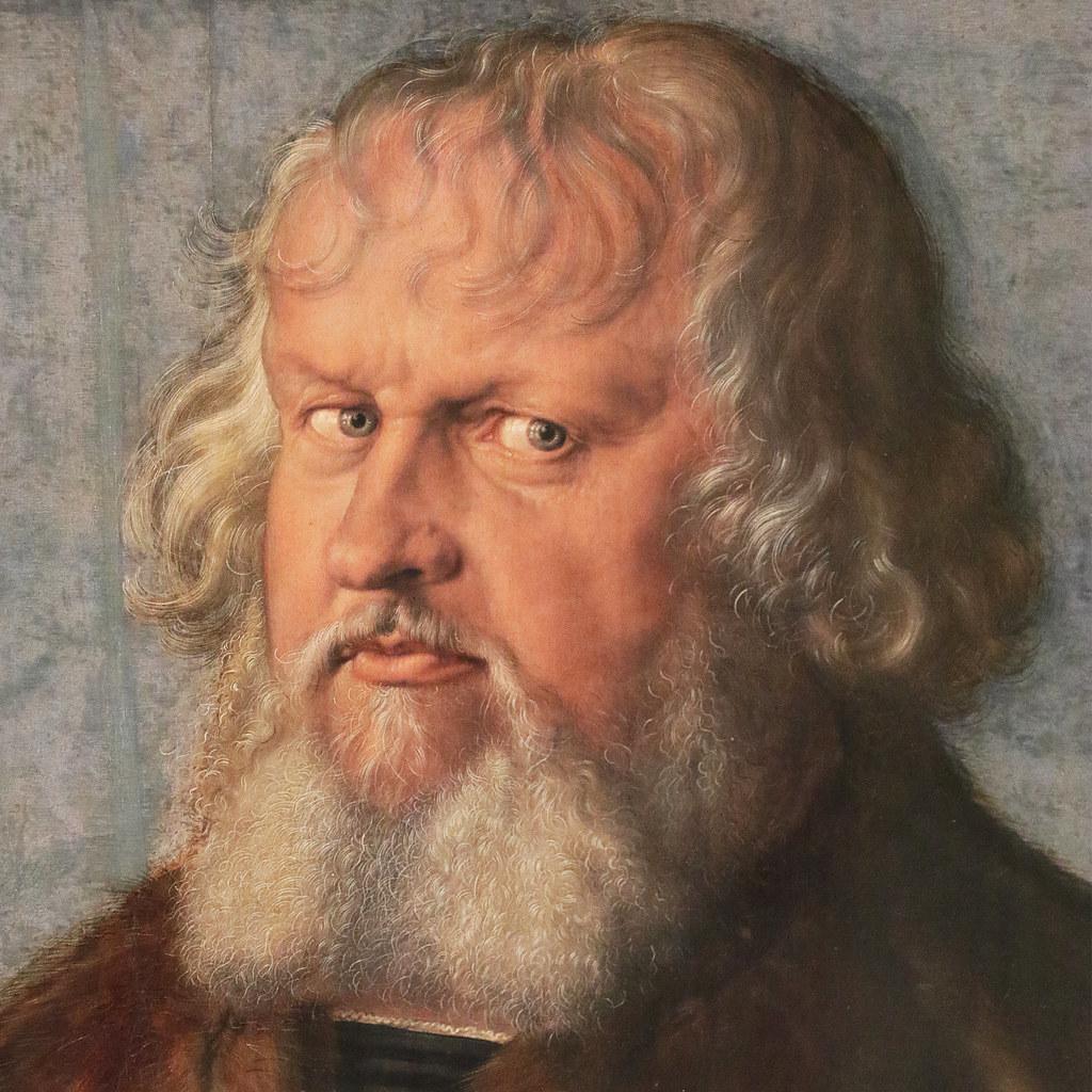 Albrecht Dürer (Norimberga, 21 maggio 1471 – Norimberga, 6 aprile 1528) - Ritratto di Hieronymus Holzschuher (1469-1529)  (1526) - olio su tavola di tiglio 51 x 37,1 cm - Gemäldegalerie, Berlino