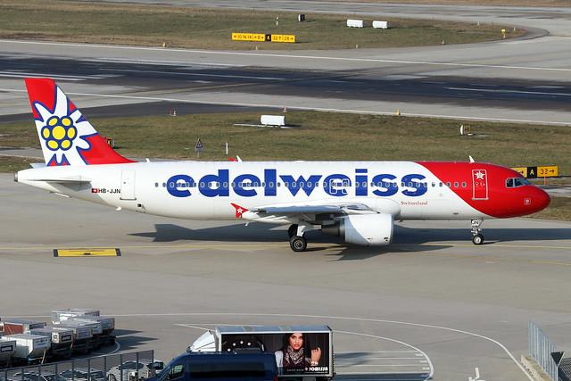 HB-JJN  -  Airbus A320-214  -  Edelweiss Air  -  ZRH/LSZH 21-1-19
