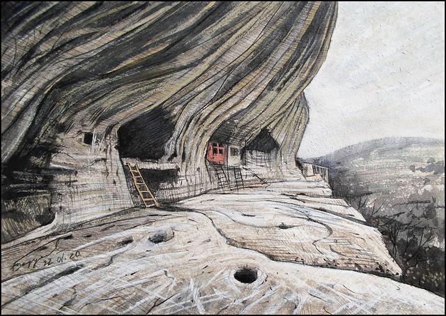 Τα σπήλαια και κελιά της μονής του Αγίου Θεόδωρου του Στρατηλάτη