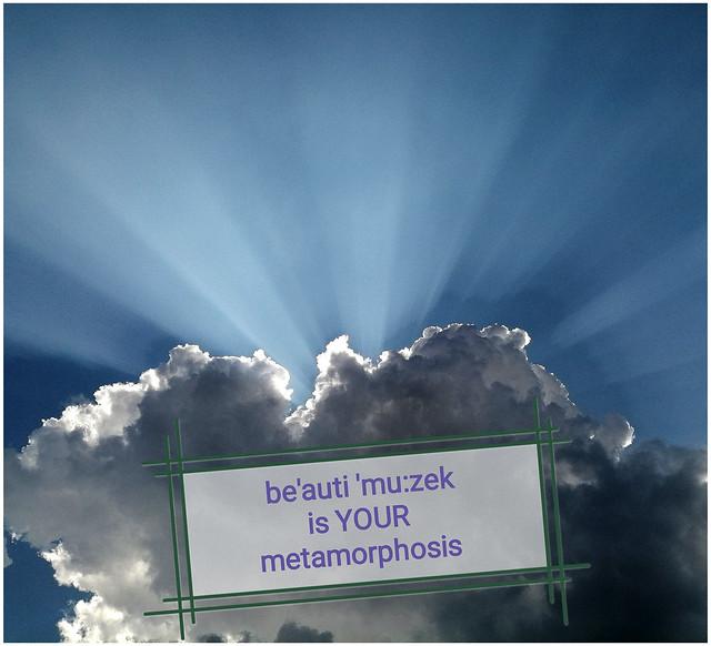 be'auti 'mu:zek is YOUR metamorphosis