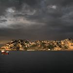 23. Jaanuar 2020 - 10:08 - January morning at Gibraltar Eastern Anchorage. Chemical Tanker Fionia Swan at anchor