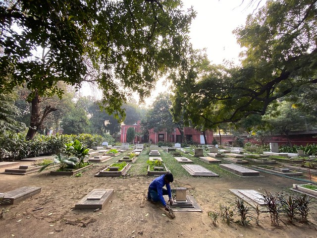 City Moment - Offering a Rose to Villy Sorabji, Parsi Cemetery