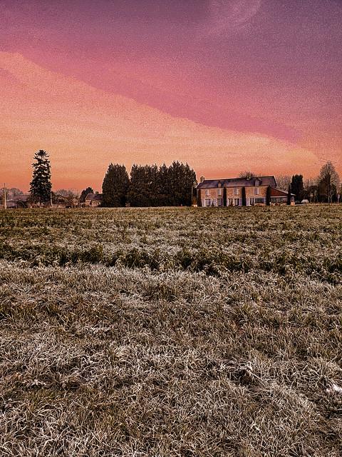 Paysage hivernal, winter landscape.