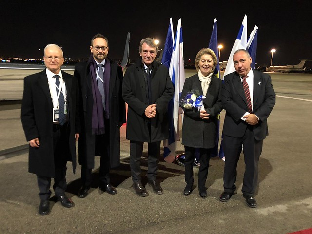 EU Commission President & President of the Parliament arrive in Israel