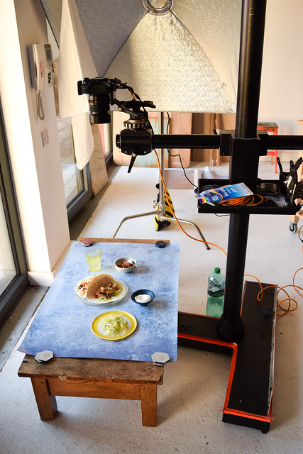 Setting Up Shots for One Pan Pescatarian