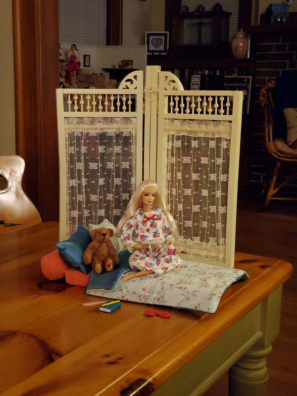 This is my favorite place to be, with a little doll set to gaze at.