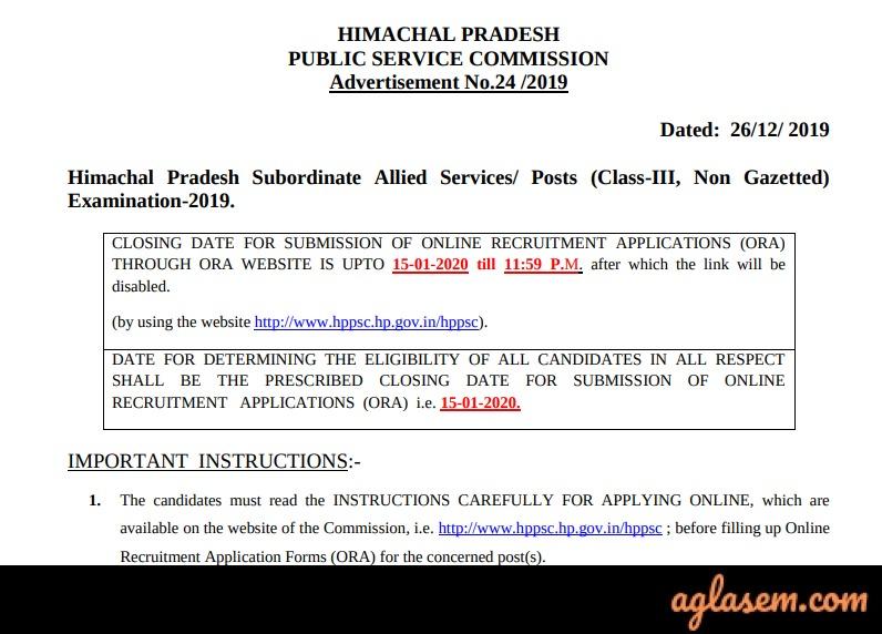 HPPSC Subordinate Allied Services HPPSC Subordinate Allied Services 2020: Admit Card Available, Check Mains Exam Date, Pattern, Preparation Tips