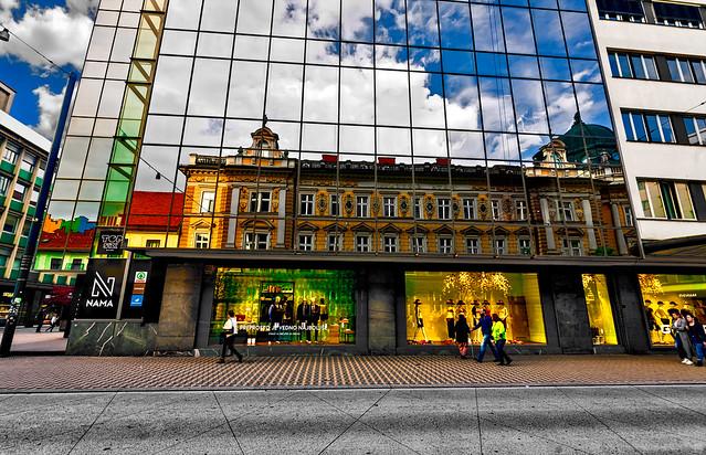 Ljubljana - At the bus stop