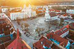 Kaunas Town Hall square | Lithuania aerial #22/365