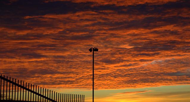 Firey skies over Preston