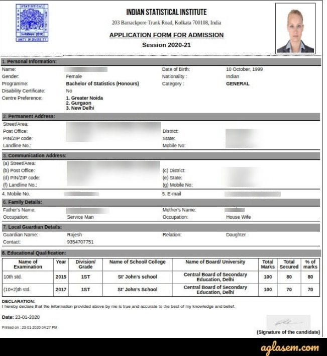 ISI 2020 Application Form