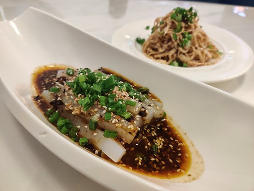 Jelly Noodles and Bean Curd Skin with Onion