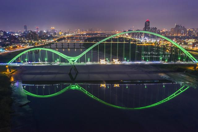 Aerial View of  New Moon Bridge  新月橋