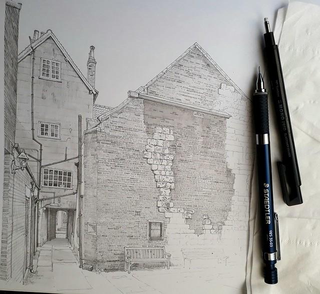 An alleyway in York (WiP 3)