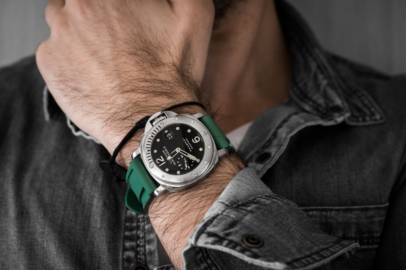 Panerai Submersible Rubber Green