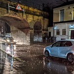 Under the flooded bridge on Fylde Road, Preston