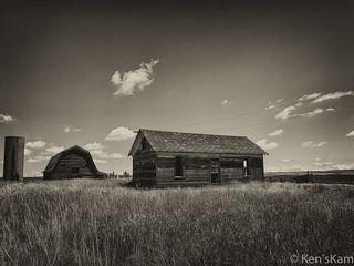Abandoned Farm Structures, Monochrome