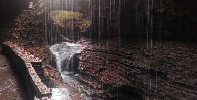 Behind Rainbow Falls, Gorge Trail, Watkins Glen State Park  10/15/2013