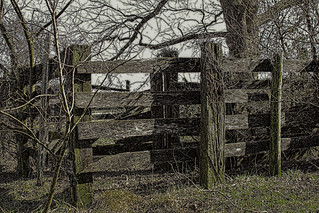 old livestock corral near Dwight Mission