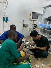 Group trying to repair a patient monitor - Blake