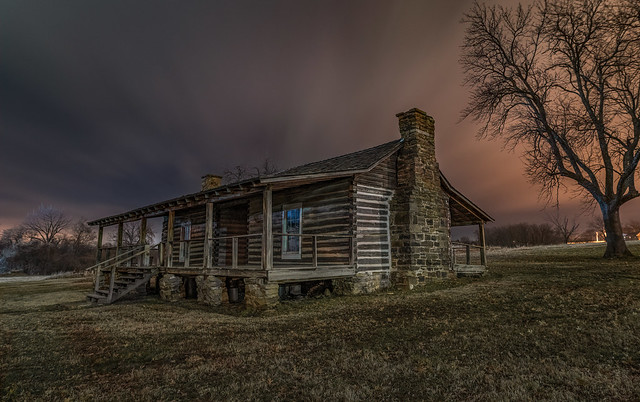 Night at the Officers Quarters at Historic Fort Gibson