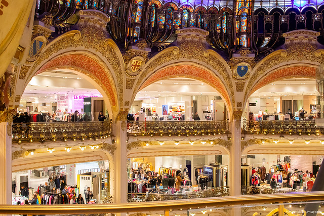 Interno delle Galleries Lafayette