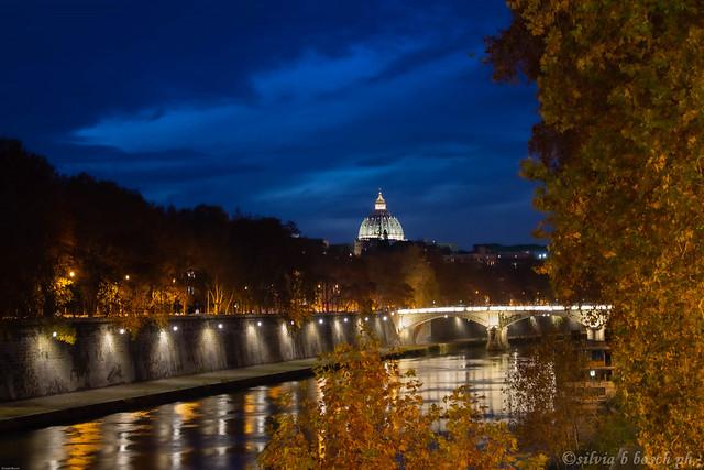 autumn night ,rome