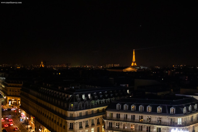 Parigi dall'alto dalle Galleries Lafayette