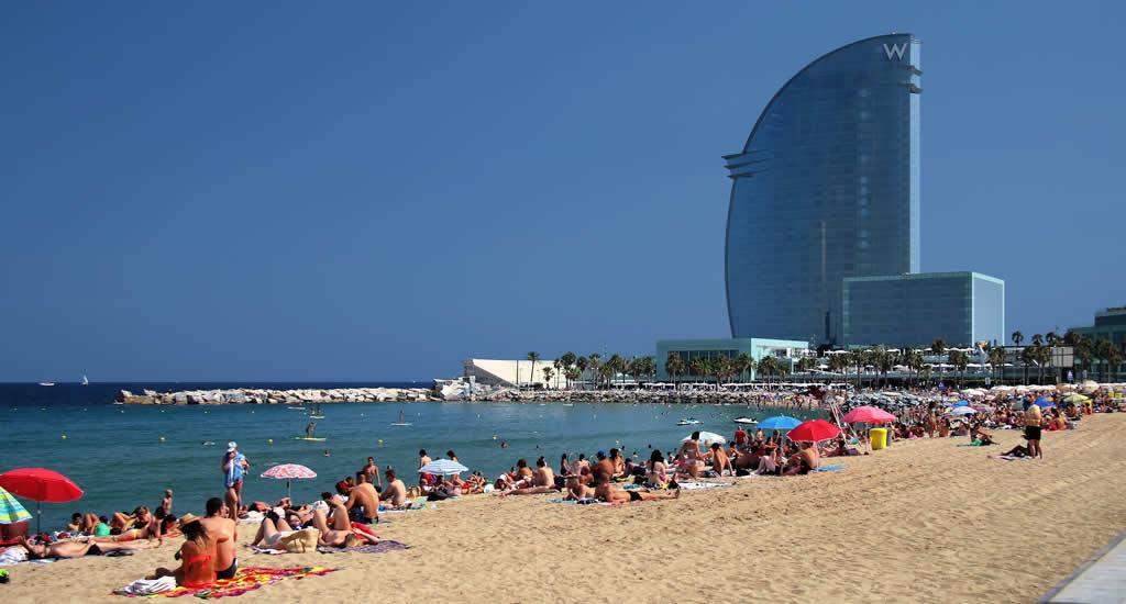 Stranden Barcelona: Sant Sebastià | Mooistestedentrips.nl