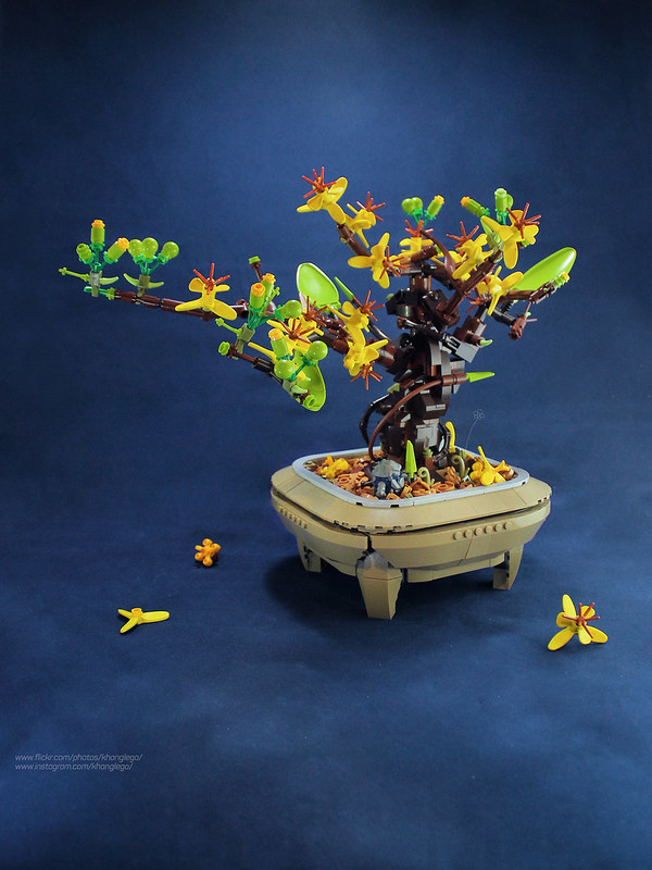 Welcome the lunar new year with this festive LEGO tree