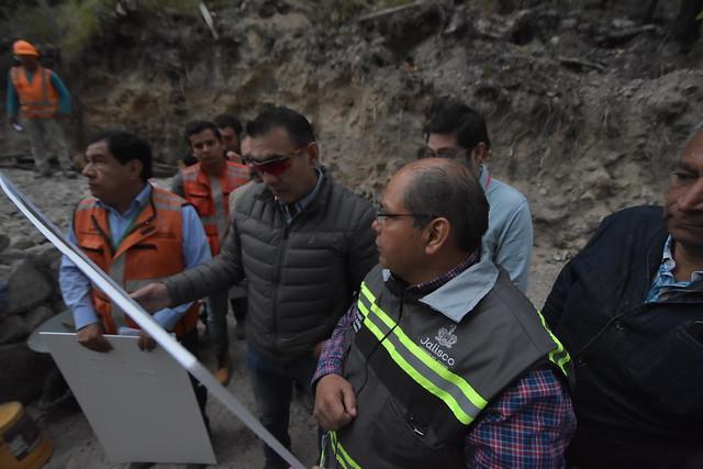 El Presidente Salvador Zamora Realizó una Supervisión de el Macro Gavión de la Zona El Colorado