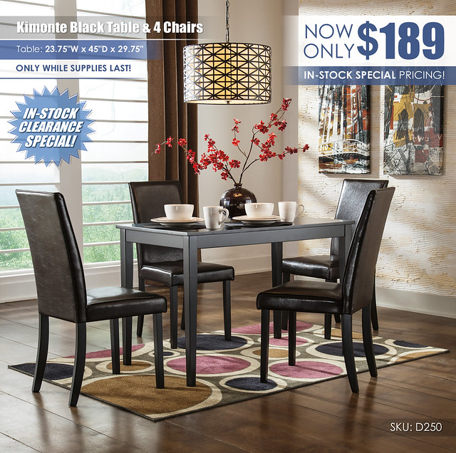 Kimonte Black 5-PC Dining Room Special_Clearance_D250-25-02(4)-TAG