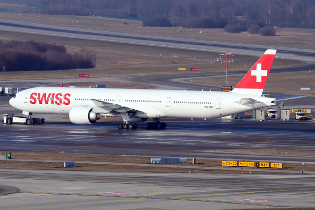 HB-JNF  -  Boeing 777-3DE(ER)  -  Swiss International Airways  -  ZRH/LSZH 21-1-20