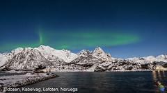 La Aurora en Eidosen,Kabelvâg,Noruega