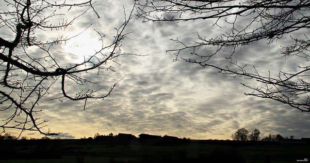 Le jour se lève sur la ferme.