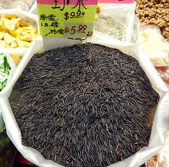 Black rice for sale in Vancouver's Chinatown