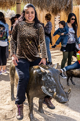 Me Riding the Warthog Statue