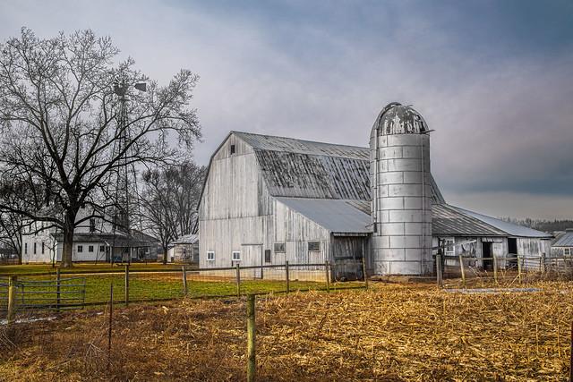 Amish Barn and Silo