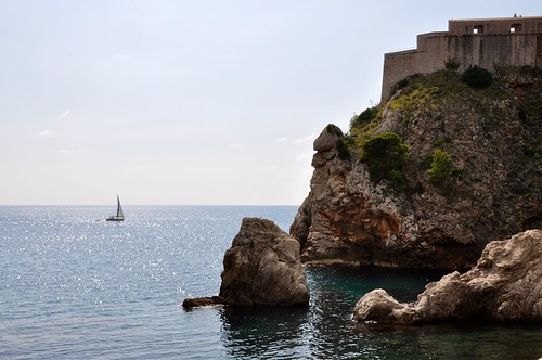 Croatia: the Old fort and the Adriatic at Dubrovnik