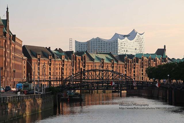 Hamburg, Speicherstadt with Elbphilharmonie