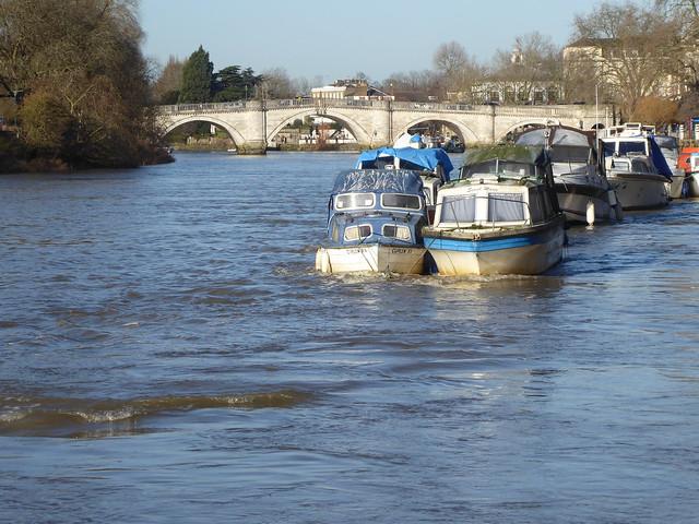 Richmond Bridge & River Thames, Richmond, London