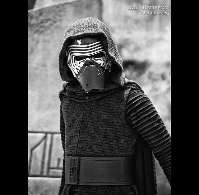 Kylo Ren - Disney's Hollywood Studios in B&W