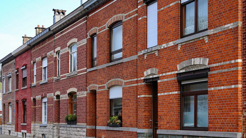 Red brick facades