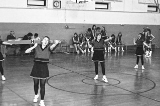 Negative Scan of Girl's Basketball Game, 1983-84