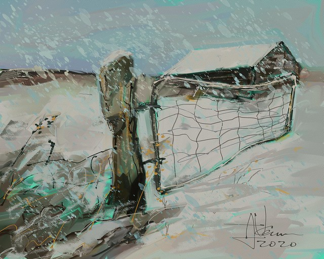 Old Gate in Winter
